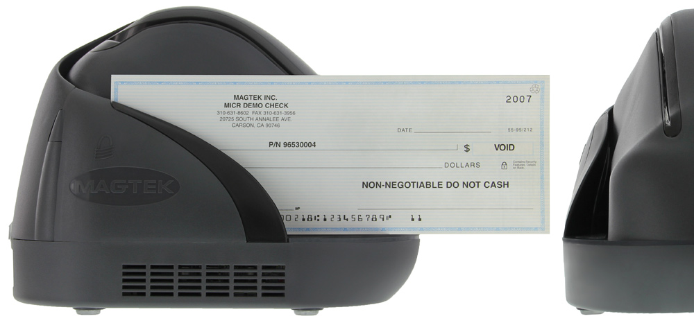 ImageSafe - Cheque Scanner & MICR Reader  Double Sided, Single Feed  Integrated Magnetic Card Reader